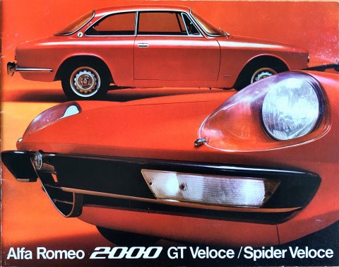 Alfa Romeo 2000 GT Veloce : Spider Veloce nr. 719A61, 1971 22,0 x 28,0, 24, NL year 1971 folder brochure