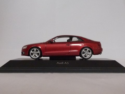 Audi A5 Coupe, 2007, rood, Schuco, 04797