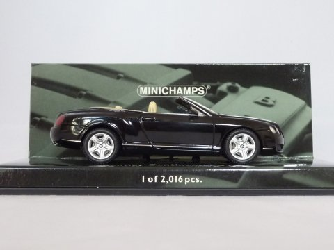 Bentley Continental GTC, 2006, zwart, Minichamps, 436 139030