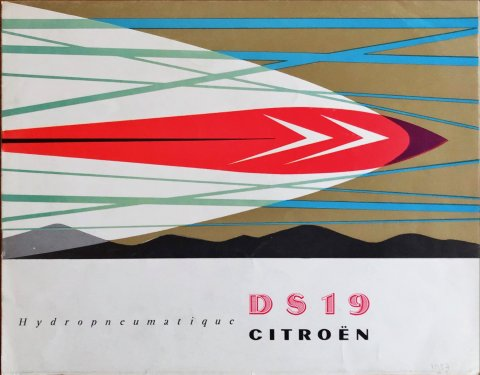 Citroën DS 19 Hydropneumatique nr. 10008, 1957-06 21,0 x 27,0, 10, FR year 1957 folder brochure