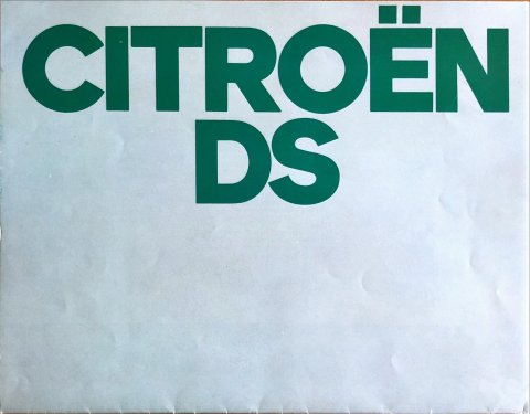 Citroën DS nr. -, 1972-08 21,0 x 27,0, 20, NL year 1972 folder brochure