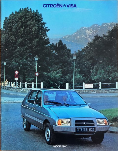 Citroën Visa nr. -, 1979 (mj. 1980) A4, 26, NL year 1979 folder brochure