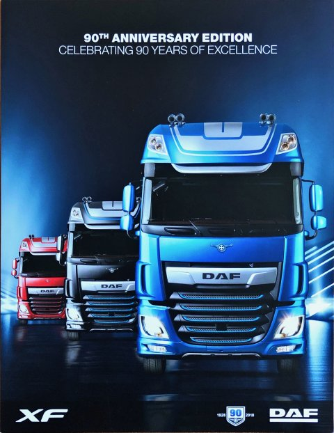 DAF XF 90th Anniversary Edition nr. HQ-GB:0118, 2018-01 21,5 x 28,0, 6, EN year 2018 folder brochure