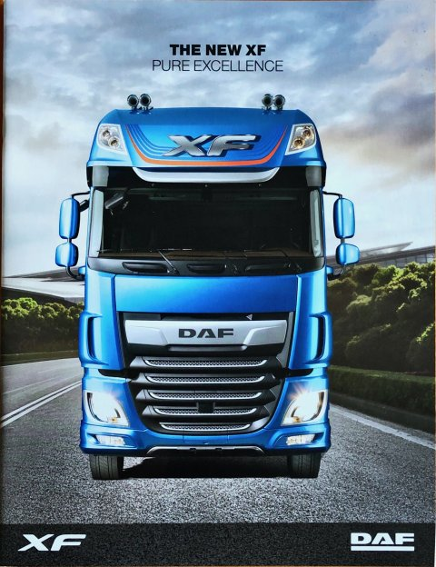 DAF XF nr. DW14313802/HG-GB-0917, 2017-09 21,5 x 28,0, 28, EN year 2017 folder brochure
