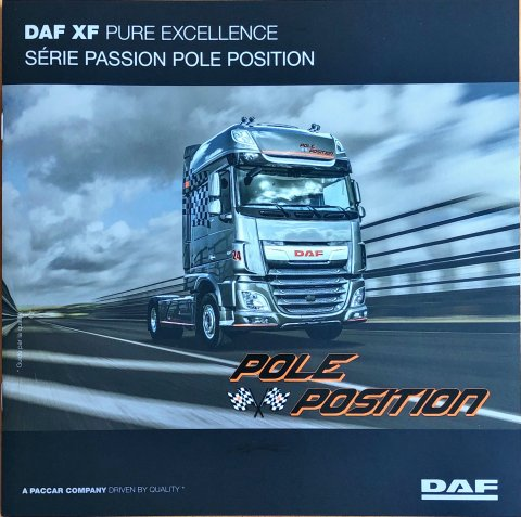 DAF XF Pole Position nr. DW14314002/FR-117, 2017-11 23,0 x 23,0, 8, FR year 2017 folder brochure