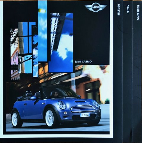 Mini Cabriolet  One : Cooper : Cooper S nr. 511 050 047 64 2 2005, 2005 23,0 x 23,0, 84, Vlaams folder brochure