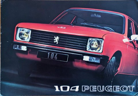 Peugeot 104 nr. -, 1972-07 21,0 x 29,7, 16, NL year 1972 folder brochure
