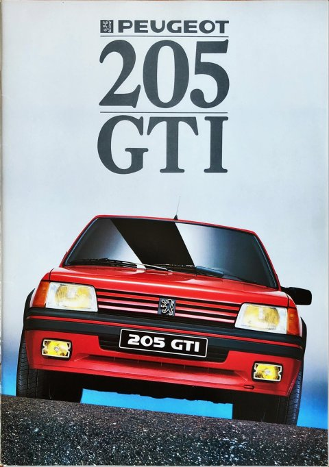 Peugeot 205 GTi nr. -, 1987 (mj. 1988) A4, 16, NL year 1987 folder brochure