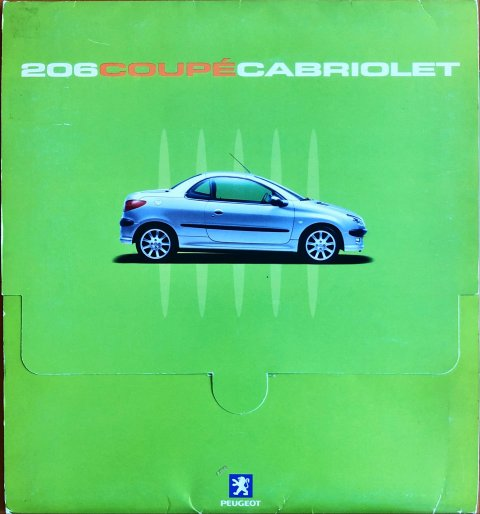 Peugeot 206 CC nr. -, 2000-10 21,0 x 24,0, 36, EN year 2000 folder brochure