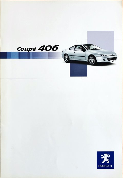 Peugeot 406 coupe nr. -, 2003-05 A4, 20, NL year 2003 folder brochure