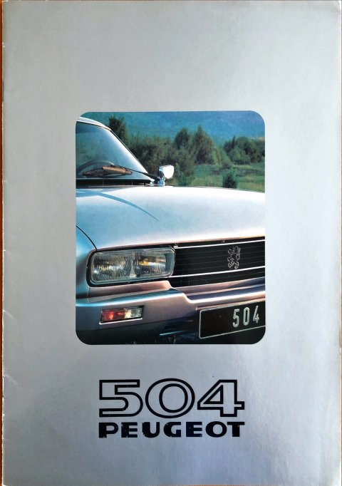 Peugeot 504 coupe en cabriolet nr. -, 1979 (mj. 1980) A4, 16, NL year 1979 folder brochure