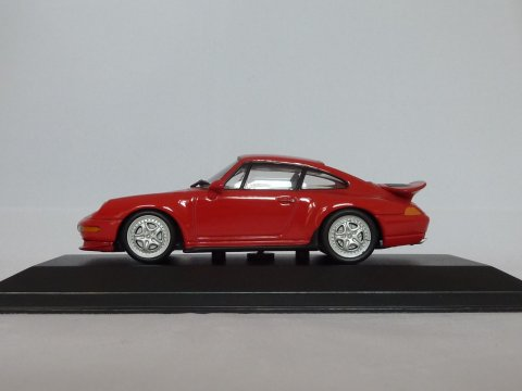 Porsche 911 - 993 Coupe RS, 1995-1996, rood, Minichamps, 430 065102