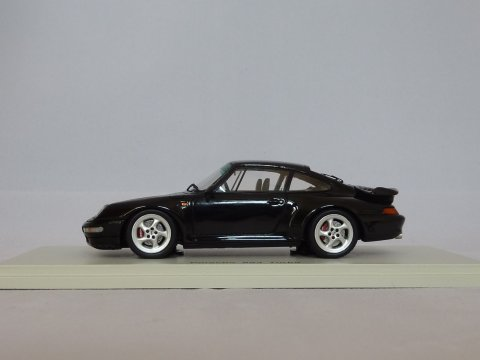 Porsche 911 - 993 Coupe Turbo, 1995-1998, zwart, Spark, S4476
