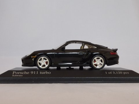 Porsche 911 - 996.1 Coupe Turbo, 2000-2005, zwart, Minichamps, 430 069309