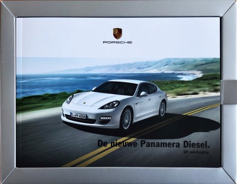 Porsche Panamera Diesel nr. WSRP 110101S591, 2011-04 A5 (in box), 24, NL year 2011 folder brochure