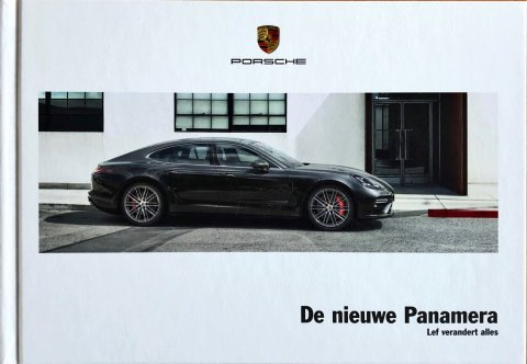 Porsche Panamera (G2) nr. WSLP1701000591 NL/WW, 2016-11 17,0 x 24,5 (hard cover), 162, NL year 2016 folder brochure