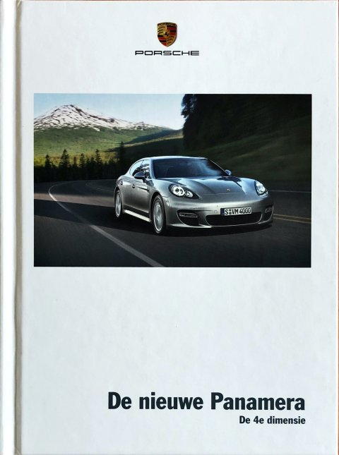 Porsche Panamera nr. WSLP1001000591 NL:WW, 2008-12 A5 hard cover, 170, NL year 2008 folder brochure