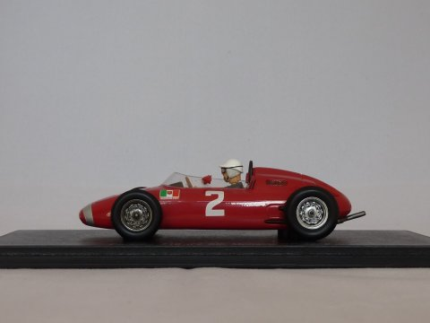 Porsche Sports car 718 #2, 5th Monaco GP,  Jo Bonnier, 1962, rood, Spark, S1860