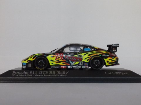 Porsche Sports car 911 - 996 GT3 RS Sally, 2004, zwart, Minichamps, 400 046979