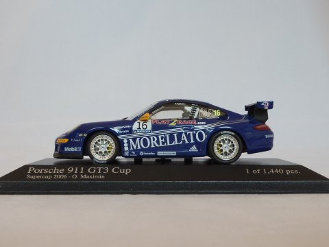 Porsche Sports car 911 - 997 GT3 Cup Supercup, 2006, blauw, Minichamps, 400 066416