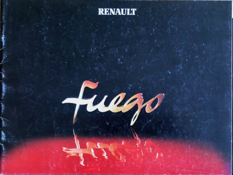 Renault Fuego nr. 21.109.11, 1981 (mj. 1982) 22,5 x 30,0, 22, NL year 1981 folder brochure