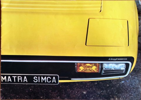 Simca Matra Bagheera nr. -, 1973 26,0 x 36,0, 16, NL year 1973 folder brochure