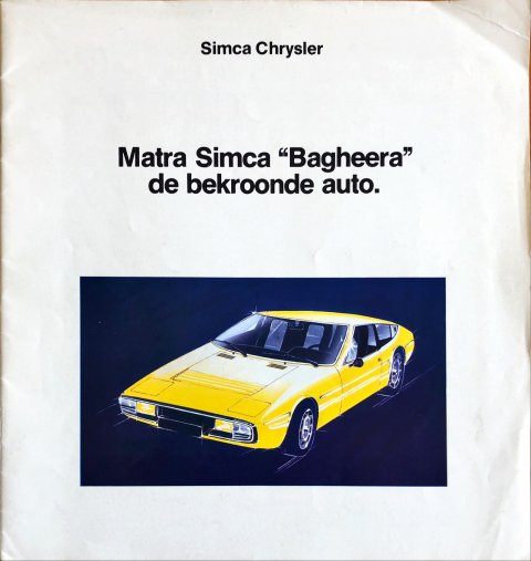 Simca Matra Bagheera nr. -, 1975 24,0 x 25,5, 32, NL year 1975 folder brochure