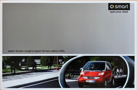 Smart Fortwo Coupe : Cabrio nr. 001 9098 V001, 2003 19,5 x 29,7, 52, NL year 2003 folder brochure