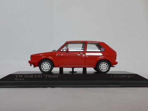 VW Golf Type 1 GTI Pirelli, 1983, rood, Minichamps, 400 055170 website