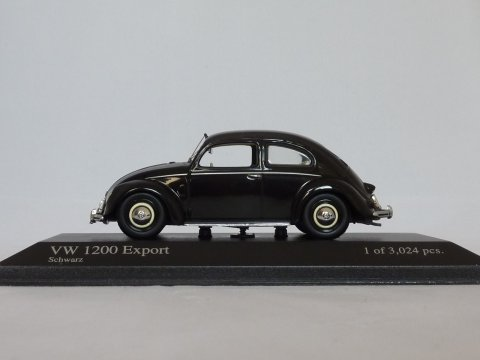 VW Type 1 Kever 1200 Export, 1951, zwart, Minichamps, 400 051200 website