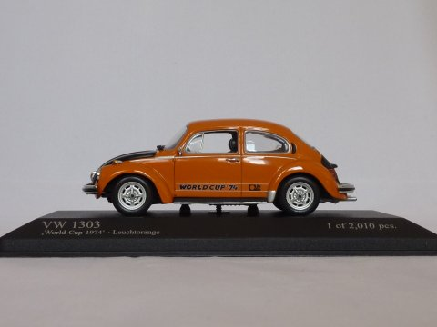 VW Type 1 Kever 1303 World Cup '74, 1974, oranje, Minichamps, 430 055114 website